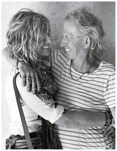 Keith Richards with wife Patti Hansen.  Good and long marriages are a beautiful thing!