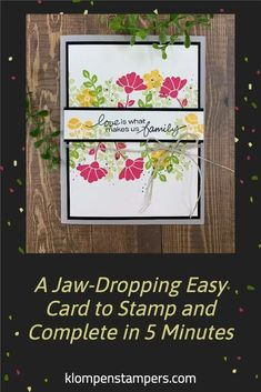 You'll appreciate a 5 minute craft, right?! This simple card is so quick to stamp and turns out beautiful. This falls into my SIP method of cardmaking —meaning all you need is a little paper, stamps, and a few ink pads and you'll have an easy greeting card made in minutes. www.klompenstampers.com 21 Cards, Some Cards, Quick Cards, Simply Stamps, Image Stamp, Card Tutorials, Ink Pads, Card Tags, Flower Cards