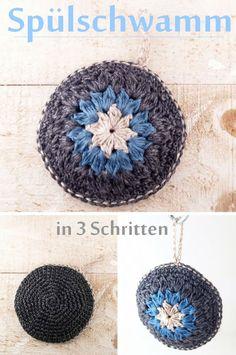 Spülschwamm häkeln in 3 Schritten (plastikfrei) Esponja de ganchillo en 3 pasos (sin plástico) The post Esponja de ganchillo en 3 pasos (sin plástico) appeared first on Crystal Wilson. Chunky Crochet Hat, Crochet Beanie Pattern, Crochet Baby Hats, Double Crochet, Free Crochet, Knitted Hats, Cordon En Cuir, Crochet Simple, Knitting Patterns