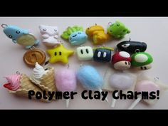 Polymer Clay Pokemon, Mario and Sweets ღ