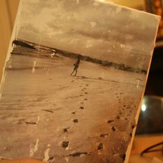 How to make a vintage effects canvas DIY via @Guidecentral - Visit www.guidecentr.al for more #DIY #tutorials