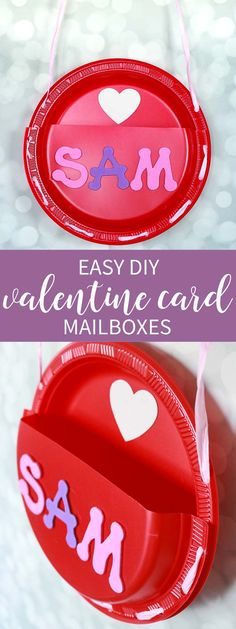 Easy Valentine Card Mailboxes for class parties!  These are easy to make and the kids can decorate however they like! via @cspangenberg
