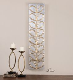 Frameless, hand painted artwork on canvas that has been stretched and attached to wooden stretching bars. Uttermost Lighting, Uttermost Mirrors, Trendy Home, Types Of Houses, Candle Sconces, Home Accessories, Modern Art, Candle Holders, Wall Lights