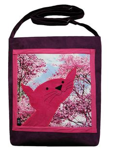 Julian the Cat Bag with Zipper  Bag with Adjustable Strap by ifONA