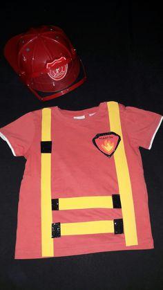 Camiseta bombero con goma eva