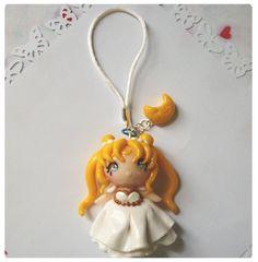 Princess serenity sailor moon chibi charm phone by FairysLiveHere