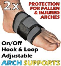 The Adjustable Arch Support Double Pack - The Simple Solution For Relieving The Pain Of Fallen Arches And Flat Feet by GreatIdeas at the Crack Heel - £6.89 - http://crackheel.com/the-adjustable-arch-support-double-pack-the-simple-solution-for-relieving-the-pain-of-fallen-arches-and-flat-feet/