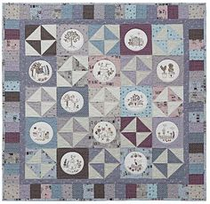 Interview with Lynette Anderson Designs of RJR Fabrics featuring the new Quilter's Garden fabric collection Lynette Anderson's whimsical imagery is infecti