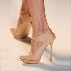 Shoespie Elegant Champagne Platform Stiletto Heels