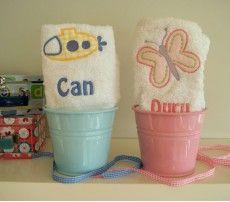 Kovada havlular çocuklar için çok sevimli hediyeler.