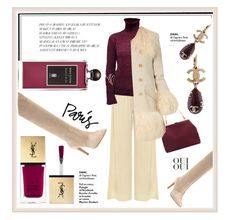 """""""Oui, Oui CC!"""" by paperdollsq ❤ liked on Polyvore featuring WearAll, Mansur Gavriel, Sonia Rykiel, Gianvito Rossi, Chanel, Yves Saint Laurent, Oui and Serge Lutens"""
