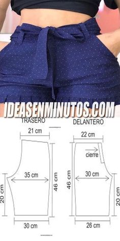 Sewing Shorts, Diy Shorts, Sewing Clothes, Diy Clothes, Girls Short Dresses, Little Girl Dresses, Como Fazer Short, Costura Fashion, Sewing Courses