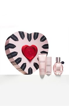 Flowerbomb set in a super cute heart box. #fragrance #valentine #nordstrom
