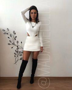 Giiiiirls, nosso macaquinho sucesso de vendas voltou em 3 core Look Fashion, Girl Fashion, Fashion Outfits, Womens Fashion, Clubbing Outfits, Night Outfits, Casual Dresses, Short Dresses, Casual Outfits