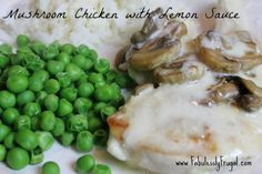 This recipe was inspired by two of my favorite restaurant recipes. The Chicken Costaletta at The Cheese Cake Factory and Pollo Rosa Maria Chicken from Carrabbas Italian Grill.  I love a good lemon butter sauce. So I decided I would come up with my own.    http://fabulesslyfrugal.com/2013/02/mushroom-chicken-with-lemon-butter-sauce.html