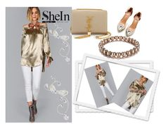 """Shein"" by vaslida ❤ liked on Polyvore featuring Yves Saint Laurent"