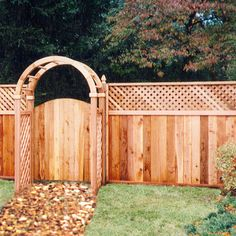 privacy fence gates with arbor - Google Search