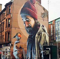 Yardworks Street Art and Graffiti Festival - Glasgow May 2017 - ★ Street art graffiti - Urban Street Art, 3d Street Art, Street Art Graffiti, Street Artists, Urban Art, St Street, Berlin Graffiti, Murals Street Art, Art Mural