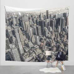 Manhattan Wall Tapestry by Nicklas Gustafsson | Society6 #newyork #manhattan #rooftops #aerial #photography #tapestry #wallart