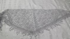 Flower Lace Tichel - Silver, Grey and White - http://www.royalhaircovers.com/?product=triangle-floral-hair-scarves-silver-grey-and-white