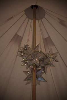 Mexican Star lights chandelier - Bell Tent interiors