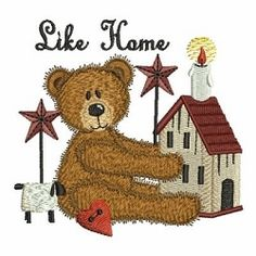 Country Teddy 10 - 3 Sizes! | Primitive | Machine Embroidery Designs | SWAKembroidery.com Ace Points Embroidery