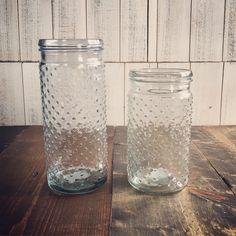 Glass Hobnail Jars