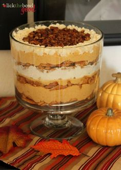 Lick The Bowl Good: Giving Thanks Pumpkin Maple Trifle