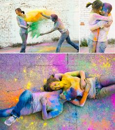 March was the Holi spring festival, also known as the festival of colors. I have put together our best engagement photos with holi powder! Wedding Photography Styles, Couple Photography, Engagement Photography, Photography Ideas, Unique Engagement Photos, Engagement Pics, Country Engagement, Fall Engagement, Photos Amoureux