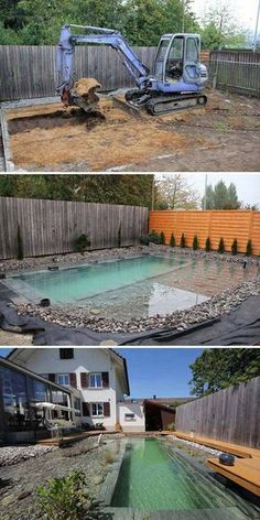 garten teich Build the swimming pond yourself: 13 fairytale design ideas - Natural Swimming Ponds, Diy Swimming Pool, Diy Pool, Above Ground Swimming Pools, Above Ground Pool, In Ground Pools, Natural Pools, Pool Backyard, Backyard Ideas