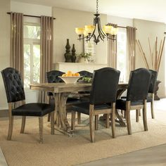 Dorel Living Rustic 5 Piece Dining Set