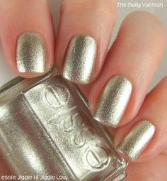 Essie -- C-3P0. .................................. OK, it's actually called 'jiggle hi jiggle lo' which is a terrible name.  But this is the exact shade and shine of C-3P0 -- those scenes where he isn't polished-up to a mirror sheen.  Bright shiny silvery gold robotic GLORY.