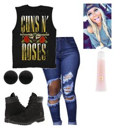 """Guns and roses"" by layhalay ❤ liked on Polyvore featuring Timberland, Lancôme and Thomas Sabo"