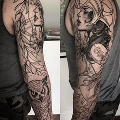Progress on Derek's Athena sleeve. Thanks dude #athena #tattoo #jeffnorton