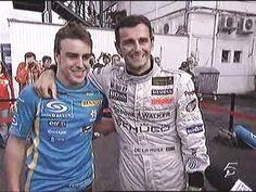 Fernando #Alonso y Pedro De la Rosa en el GP de Hungria 2006