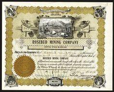 Rosebud Mining Co., 1915 Stock Certificate.
