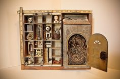 Connection - 2012 mixed media assemblage by Dianne Hoffman