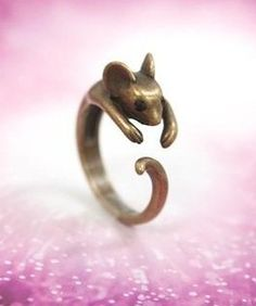 A cute rat ring!