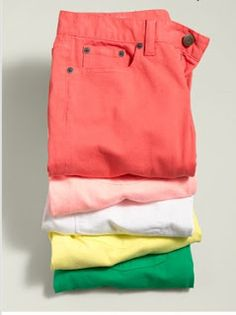 Nice things!: Colored denim for summer!