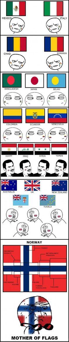 Banderas y sus parecidos con otras banderas