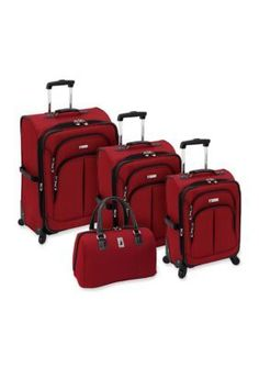 London Fog  Chatham Luggage Collection Red - Online Only