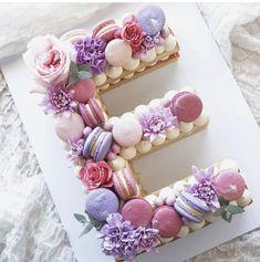 Number Birthday Cakes, Pretty Birthday Cakes, Number Cakes, Pretty Cakes, Cute Cakes, Beautiful Cakes, Amazing Cakes, Bolos Cake Boss, Alphabet Cake