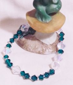 Morse Code Bridesmaid Swarovski Crystal and by LuckyFrogDesigns
