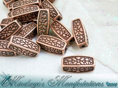 35 Antq Copper Finish Squared Oval Beads 12x5mm. Starting at $5 on Tophatter.com!