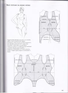 One seam one piece swimsuit pattern tutorial Underwear Pattern, Lingerie Patterns, Sewing Lingerie, Clothing Patterns, Sewing Patterns, Red Lingerie, Skirt Patterns, Blouse Patterns, Patron Couture