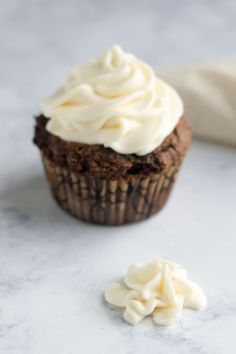 White chocolate ganache frosting is creamy and fluffy and perfect on cupcakes, cookies, or spoons!