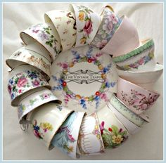 Beautiful vintage china teacups. Mix and match vintage china.