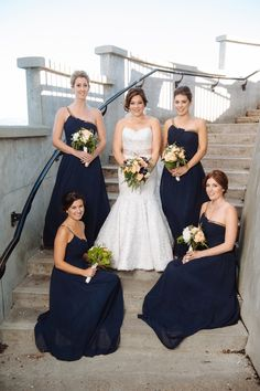 An elegant wedding set in the city | Brideside Bridesmaid Dresses