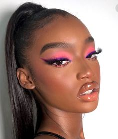 Cute Makeup Looks, Makeup Eye Looks, Eyeshadow Looks, Gorgeous Makeup, Pretty Makeup, Eyeshadow Makeup, Black Girl Makeup, Girls Makeup, Glam Makeup