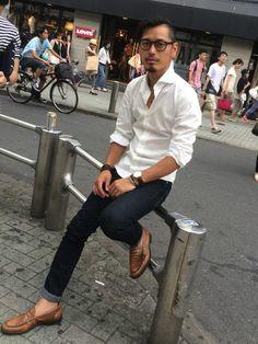 GIANNETTOのシャツ・ブラウスを使ったshinkichi sumiのコーディネートです。WEARはモデル・俳優・ショップスタッフなどの着こなしをチェックできるファッションコーディネートサイトです。